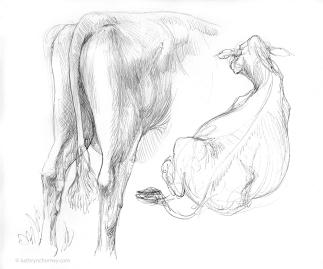 RWF Cow Studies 2006, ballpoint ink.