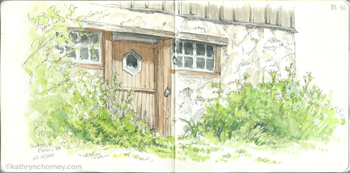A warm summer afternoon, a few sketching pals, and an old abandoned barn on a farm that has been donated to the province as a public park.